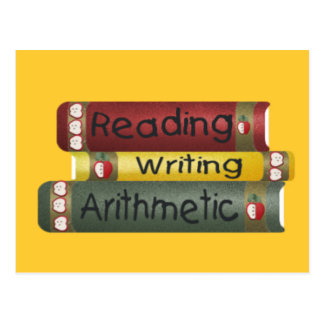 Reading and Writing and Arithmetic Postcard