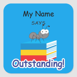 Reading Ant - Outstanding! Square Sticker