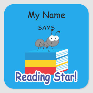 Reading Ant - Reading Star! Square Sticker