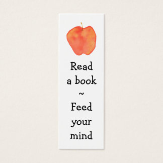 Reading Apple Mini Bookmark - Mini Business Card