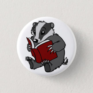Reading Badger Pinback Button