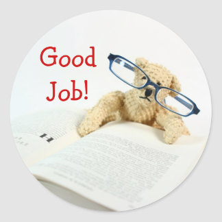 Reading Bear Good Job Stickers