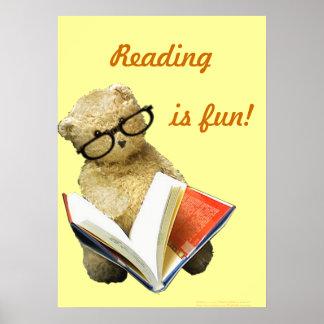 Reading Bear - poster