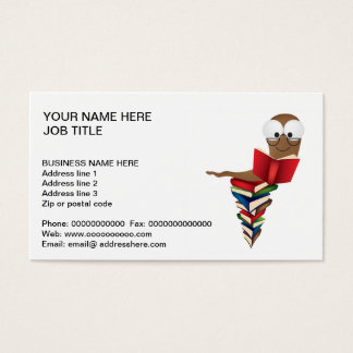 READING BOOKS BUSINESS CARD
