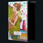 "Reading Books Girl &amp; Cat lover | iPad Air 2 Case<br><div class=""desc"">Cartita design &#169;2015  All Rights Reserved