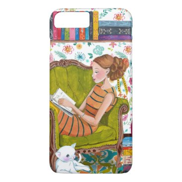 Reading books Girl Cat lover | iPhone 7 plus Case