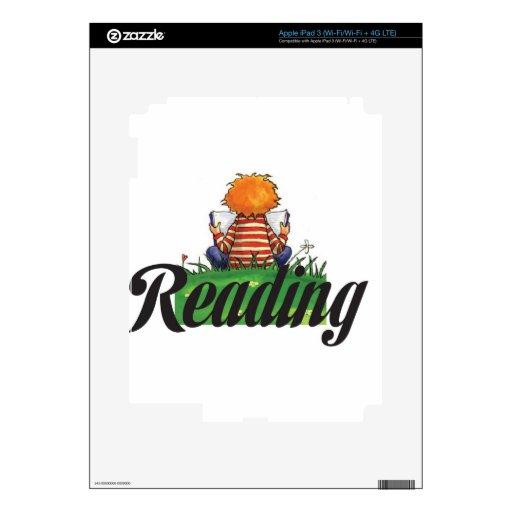 Reading Books iPad 3 Decal