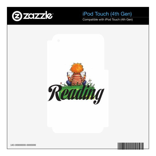 Reading Books iPod Touch 4G Decal