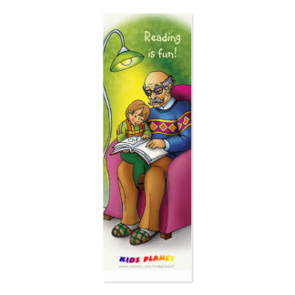 Reading books together bookmark for everyone! Double-Sided mini business cards (Pack of 20)