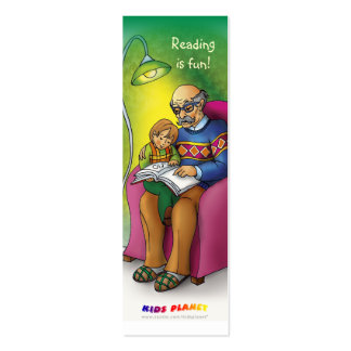 Reading books together bookmark for everyone! mini business card