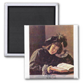 Reading Boy By Hals Frans 2 Inch Square Magnet