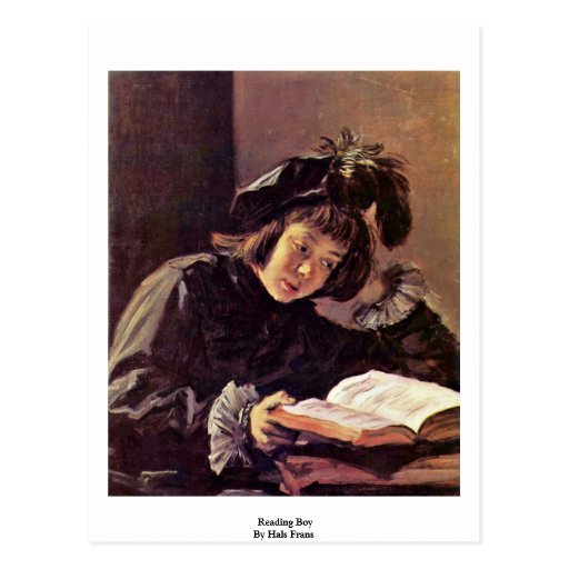 Reading Boy By Hals Frans Postcards