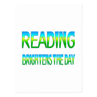 Reading Brightens the Day Postcard