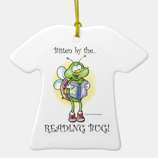 READING BUG ornament
