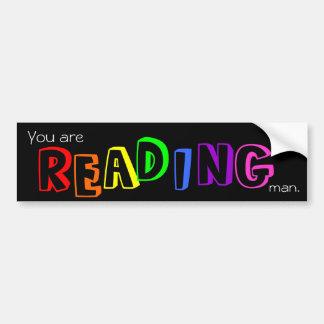 Reading bumper stickers