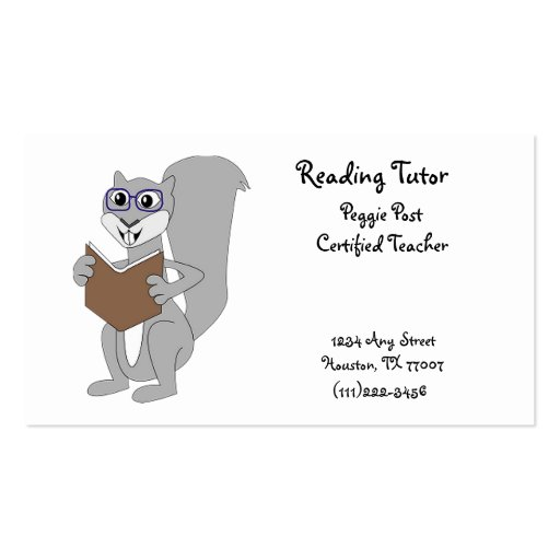 Reading Business Card