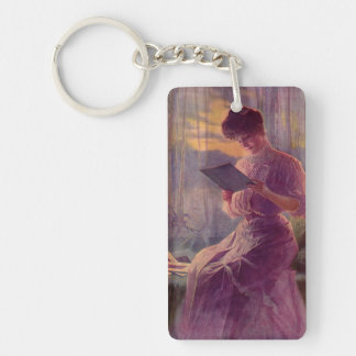 Reading by Moonlight Keychain