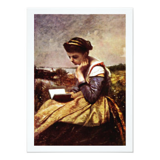 Reading By The Lake Card
