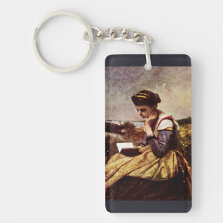 Reading By The Lake Keychain