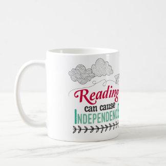 Reading can cause Independence Mug