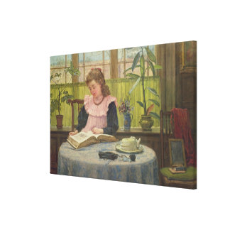 Reading Stretched Canvas Print