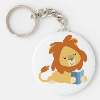 Reading Cartoon Lion keyring