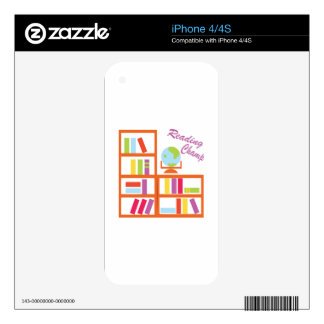 Reading Champ Decals For iPhone 4S