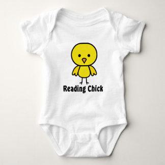 Reading Chick Baby Bodysuit