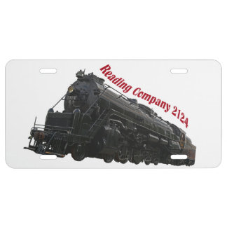 Reading Company 2124 License Plate