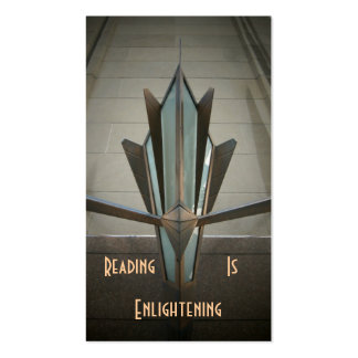 Reading Deco Bookmark Business Card Templates