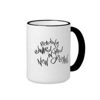 Reading Edward Said in New Orleans Ringer Coffee Mug