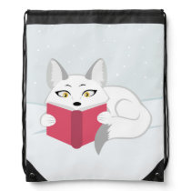 Reading Fox Drawstring Backpack