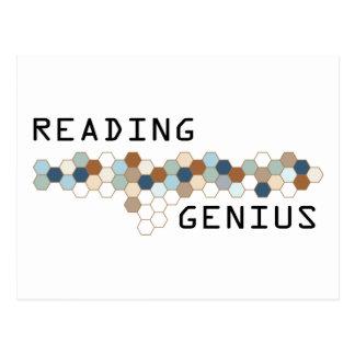 Reading Genius Postcard
