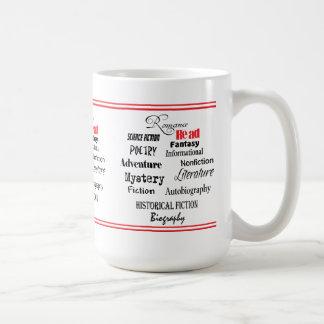 reading genres mug