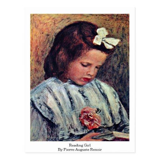 Reading Girl By Pierre-Auguste Renoir Post Card