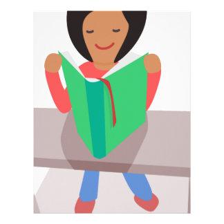 Reading Girl Letterhead
