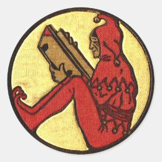 Reading Gnome Classic Round Sticker