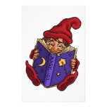 reading gnome fantasy custom stationery