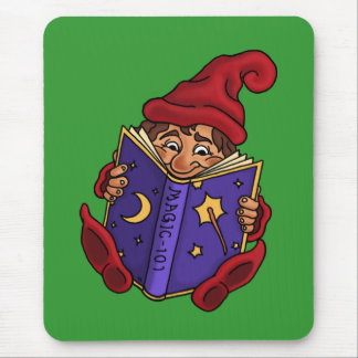 reading gnome fantasy mouse pad