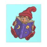 reading gnome fantasy notepad