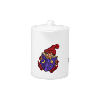 reading gnome fantasy teapot