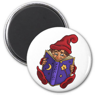 reading gnome funny magnet