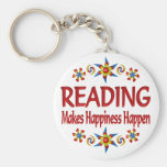 Reading Happiness Key Chain