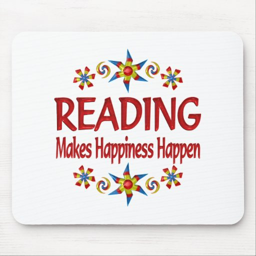 Reading Happiness Mouse Pad
