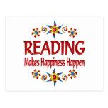 Reading Happiness Postcard