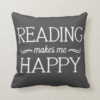 Reading Happy Pillow - Assorted Styles & Colors