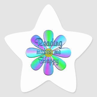 Reading Happy Star Sticker