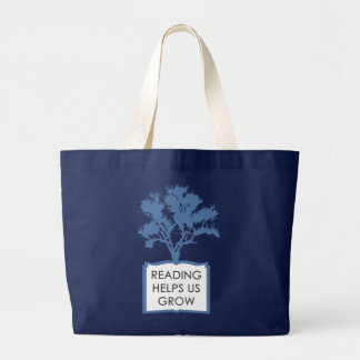Reading Helps Us Grow Large Tote
