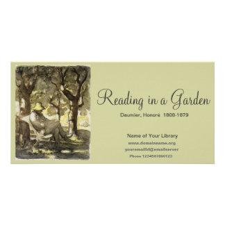 Reading in a Garden Card
