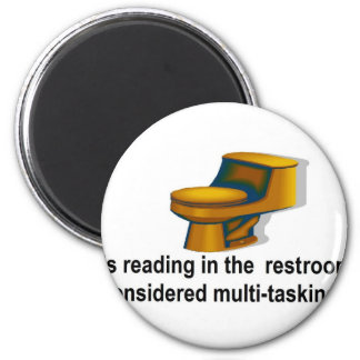 Reading in the restroom 2 inch round magnet
